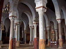 Interior of Great Mosque, Kairouan, Tunisia.