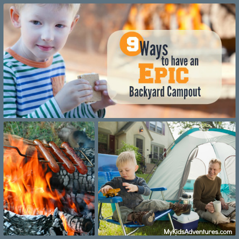 Want to expose kids to the great outdoors without leaving home? Try a backyard campout. Pitch a tent, toast marshmallows and sleep outside for backyard fun.