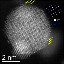 Atomic-resolution image of a Pt shell on an ordered Pt3Co core increases the Catalytic activity
