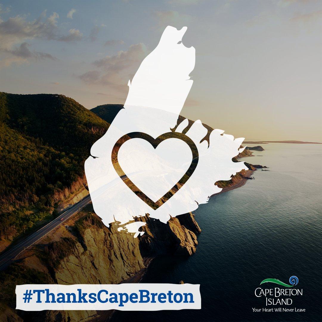 Destination Cape Breton #thankscapebreton logo