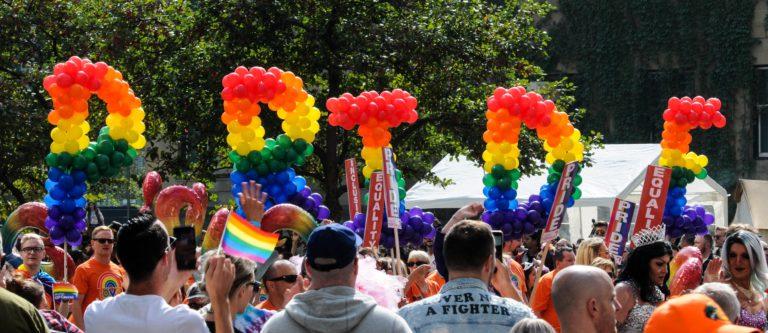Pride celebration in Barcelona-home