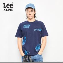 Lee男装 2018春夏新品X-LINE藏蓝色短袖T恤L319182LQB8D图片