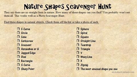 nature shapes list