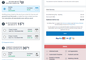 constant contact pricing plans