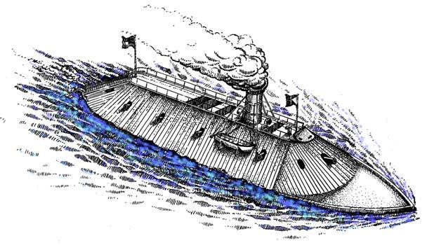 CSS Virginia drawing