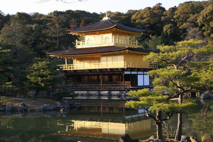 Kinkaku-ji: pavillon d'or à Kyoto