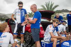Director Roberto Damiani talking with the riders