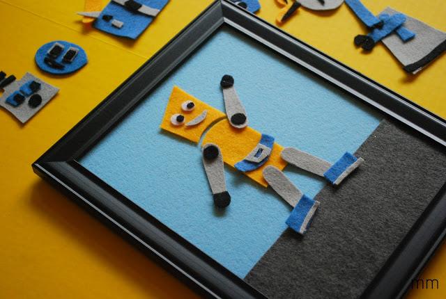 Framed Robot Felt Board