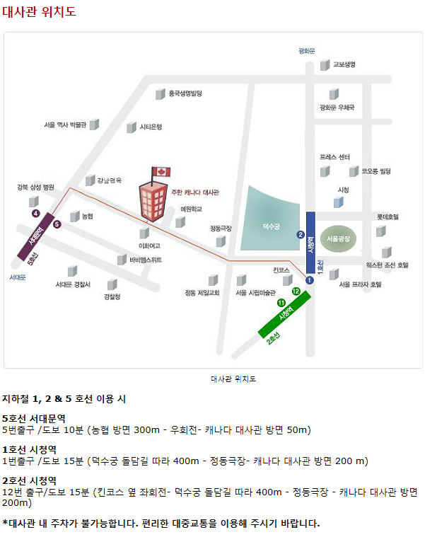 map to korea office