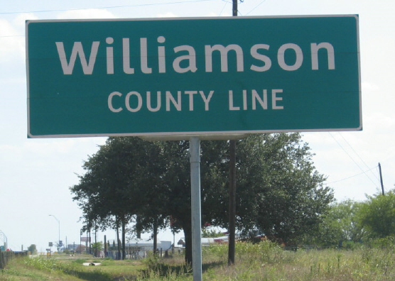 William County Line sign