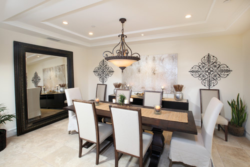 Dining room mirror - large and beautiful photos. Photo to select .