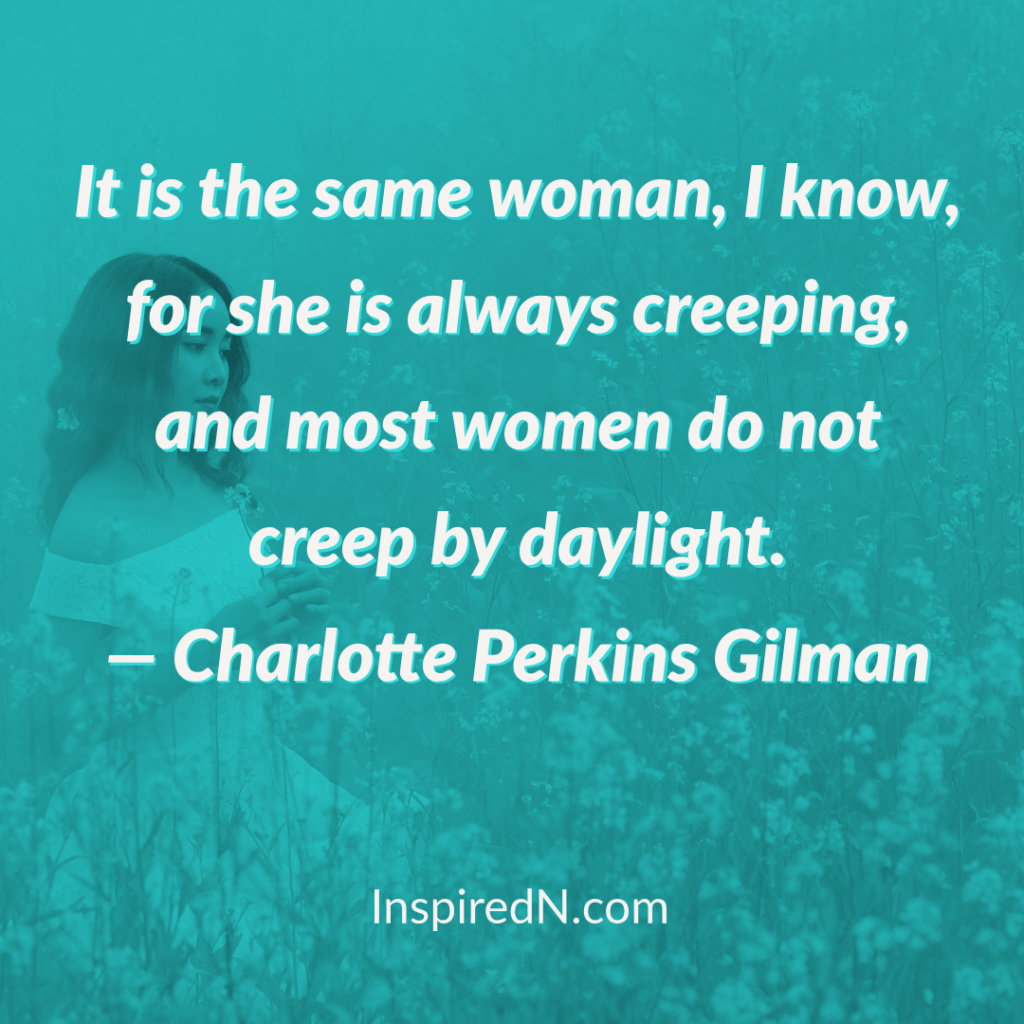 creeping of a woman quotes