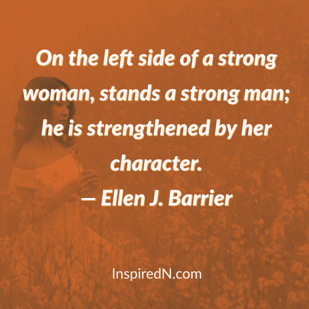 being strong woman quotes by Ellen J. Barrier