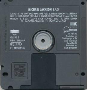 Michael Jackson Bad Mini Disc MD
