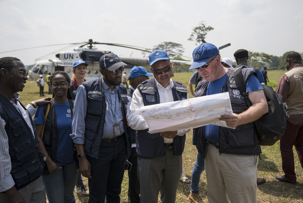 WHO's response to Ebola virus disease (EVD) outbreak in the Democratic Republic of Congo.  WHO Director-General Dr Tedros Adhanom Ghebreyesus arrives in Itipo.