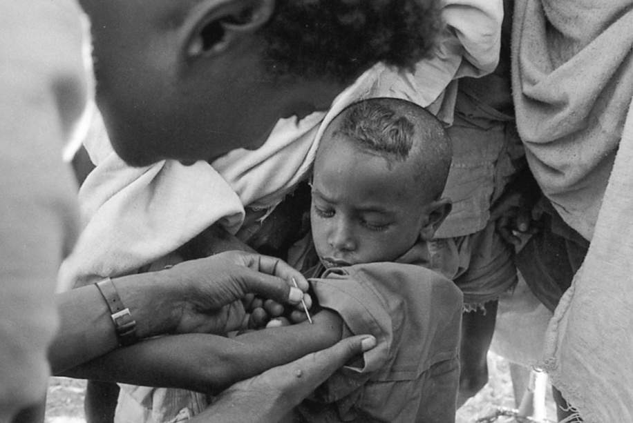 The WHO smallpox eradication campaign was launched in its intensified form in 1967, and in four years had wiped out smallpox in Latin America. Four more years toppled the disease's last bastion in Asia. The multi-national teams closed in on Somalia, scene of