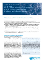 Information sheet on WHO TobLabNet methods for measuring priority contents and emissions in tobacco and related products