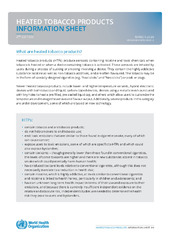 Heated tobacco products: information sheet - 2nd edition