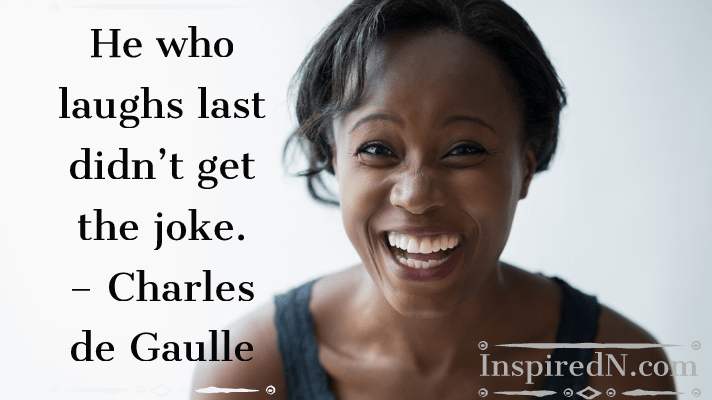 Funny phrase on joke by Charles De Gaulle