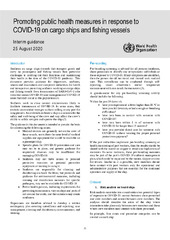 Promoting public health measures in response to COVID-19 on cargo ships and fishing vessels