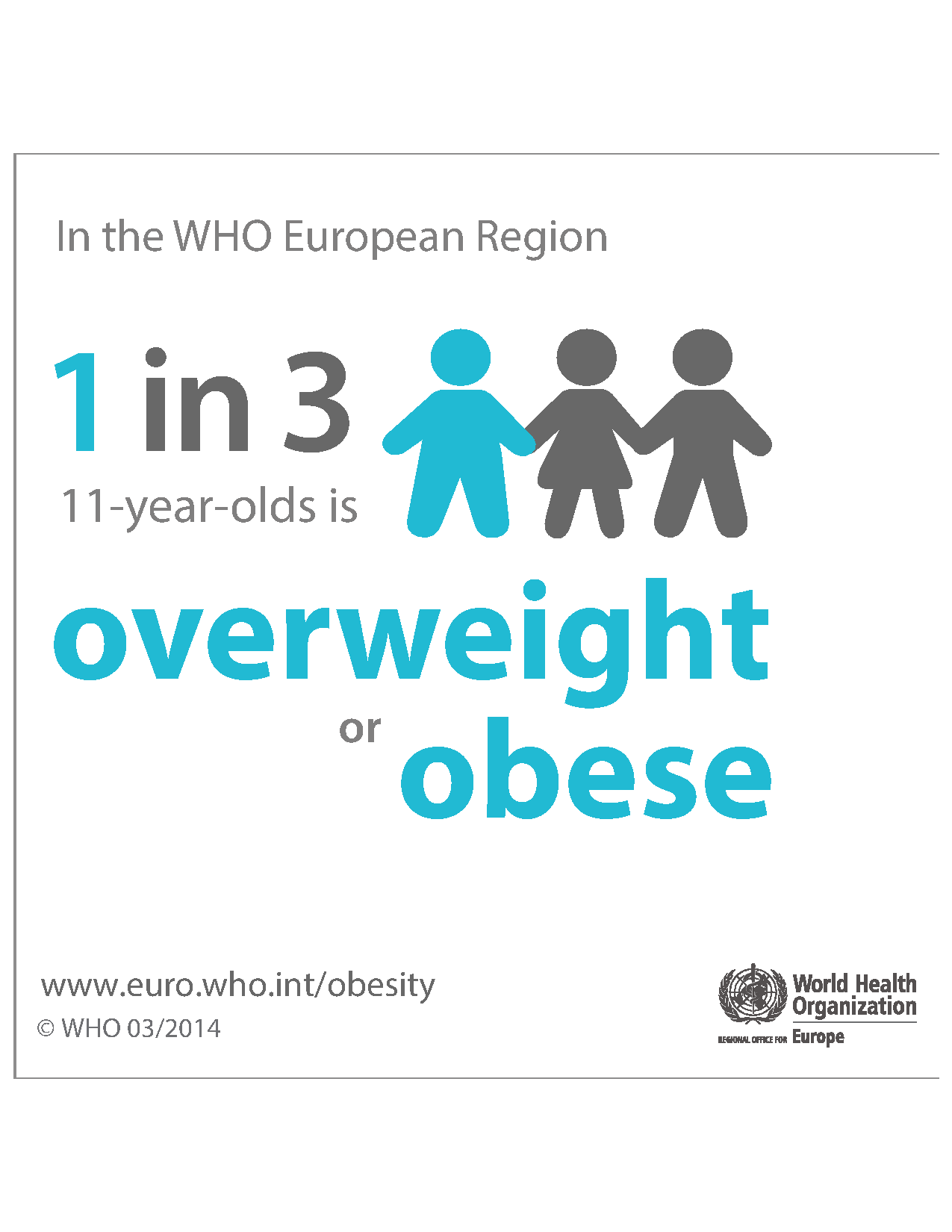 1 in 3 11-year-olds is overweight or obese