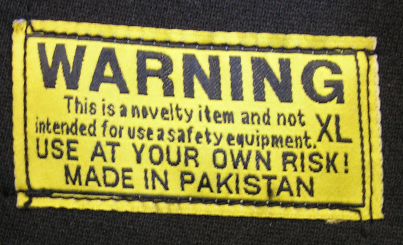 novelty label