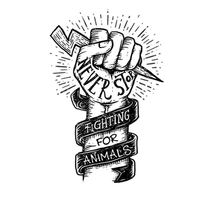 Never Stop Fighting For Animals Design