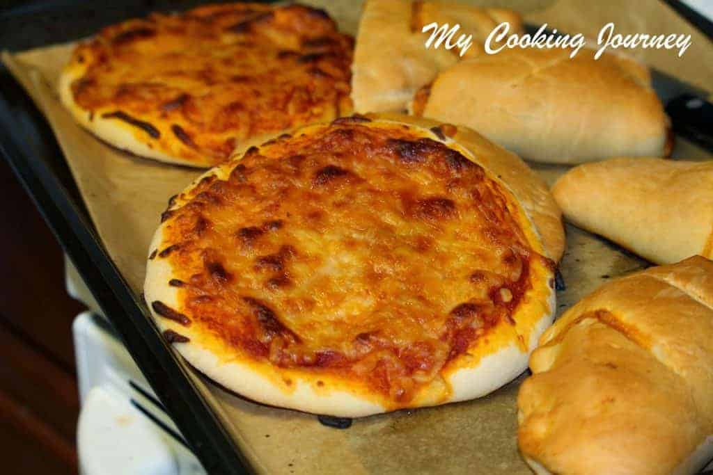 Veg Calzones on a tray