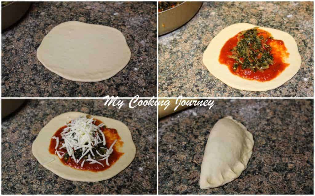 Shaping vegetable Calzones