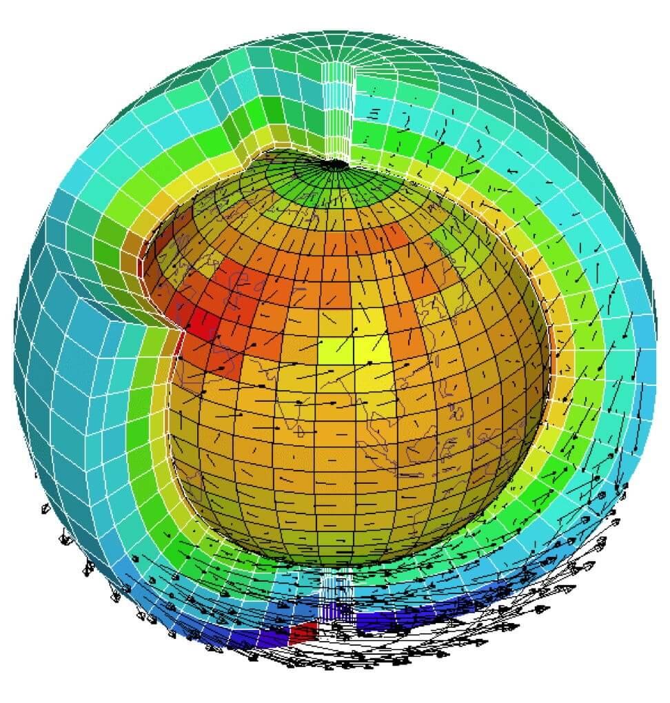 Illustration des mailles d'un modèles numérique de très grande échelle