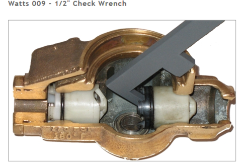 """Check Wrench Watts 009 RP 1/4""""-1/2"""", WT102"""