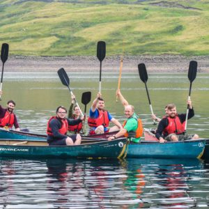 Canoeing with How Stean Gorge Adventure Team at Scar House Reservoir Yorkshire Canoe Expedition