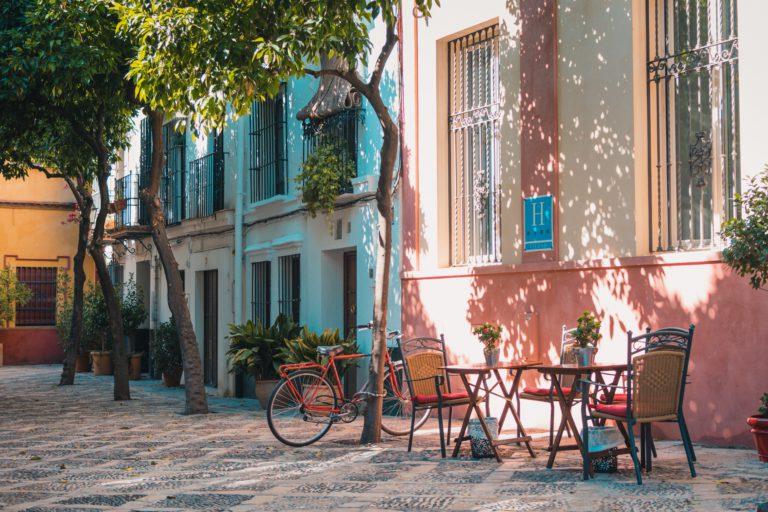 Bike on a street in Spain