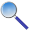 magnifying glass Blue 60