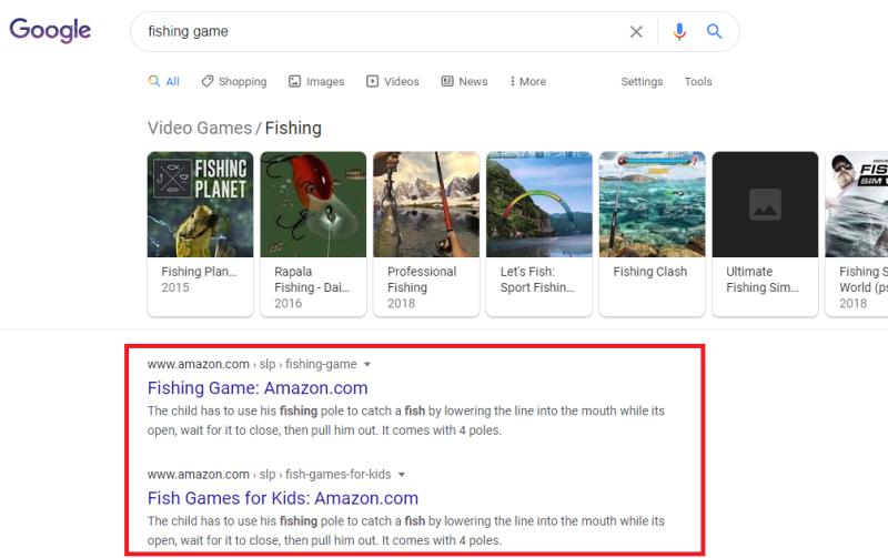 Google SERPs visspel