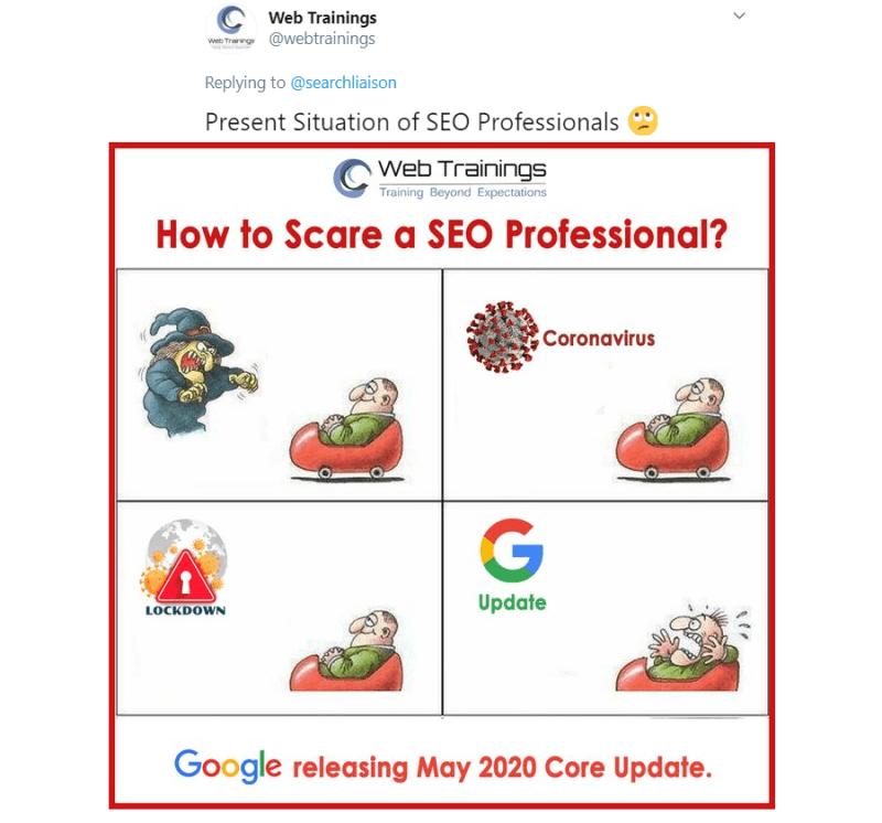 Google Mei 2020 Core Update Meme
