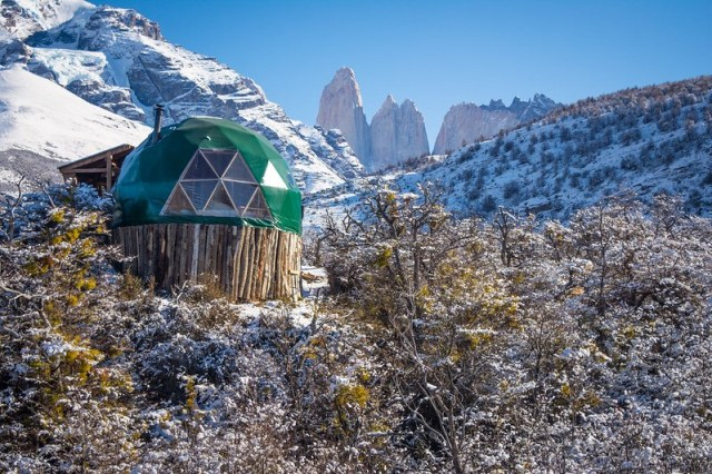 EcoCamp Patagonia in winter