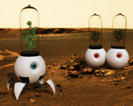 """Little Prince"" robot greenhouse. Credit: Electrolux"