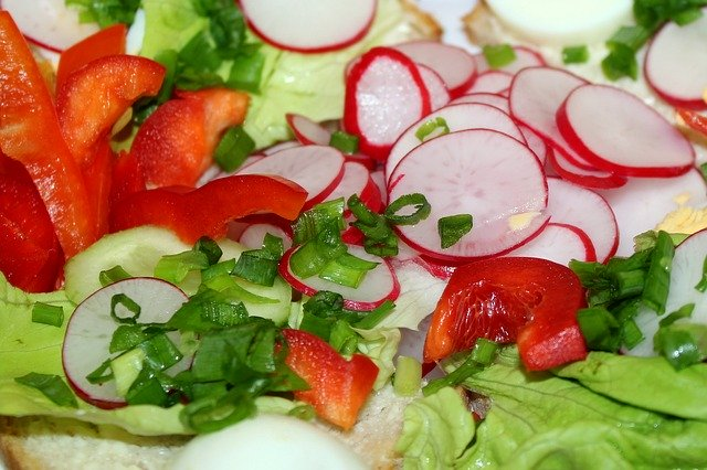 pickled radishes in a slaw
