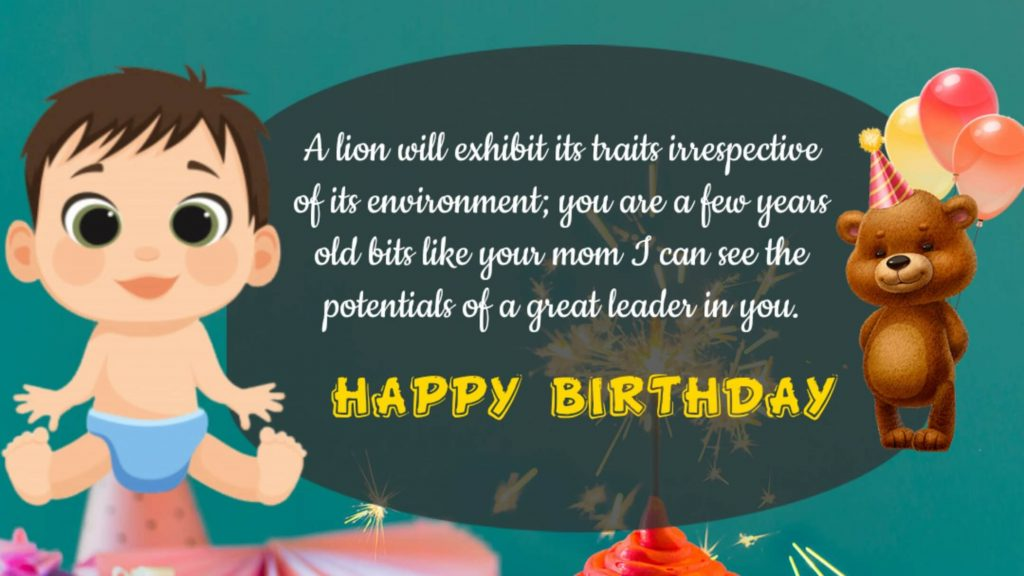 Best Birthday Wishes to Baby Boy Quotes