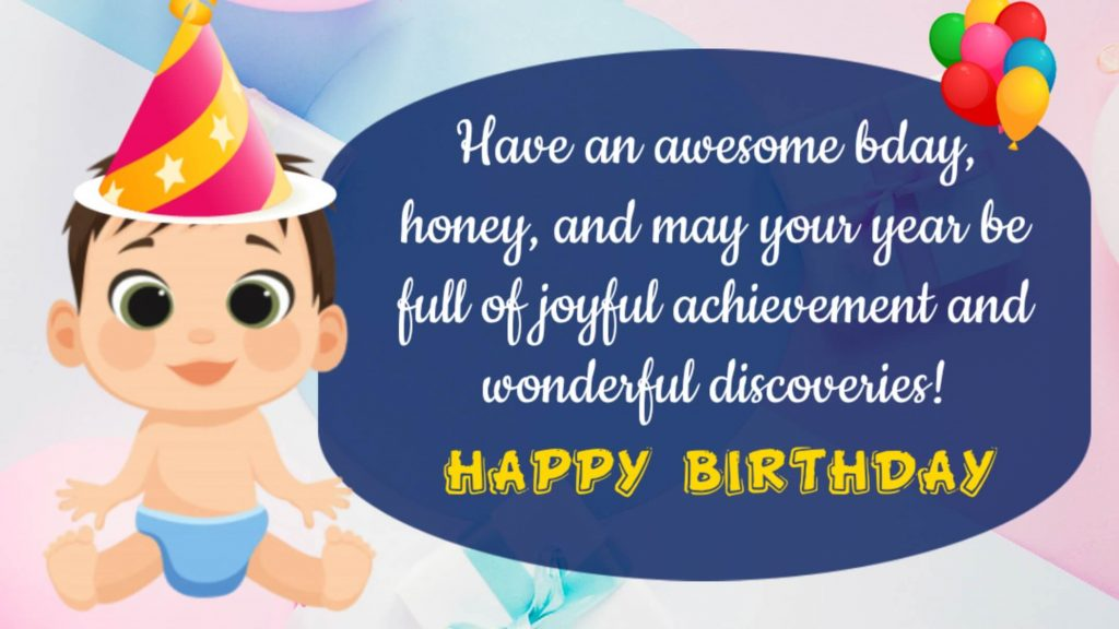 Birthday Wishes for Baby Boy from Mother