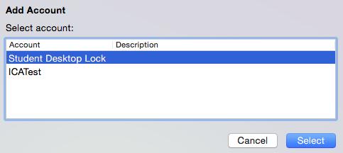 Dialog box showing Student Desktop Lock selected