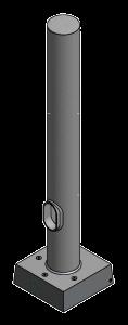 Round Straight Hinged Aluminum Poles