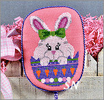 EA10-XS Peeking Bunny from Pepperberry Designs - click to see more