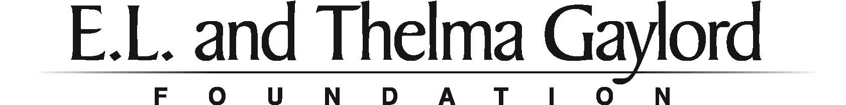 E.L. and Thelma Gaylord Foundation Logo