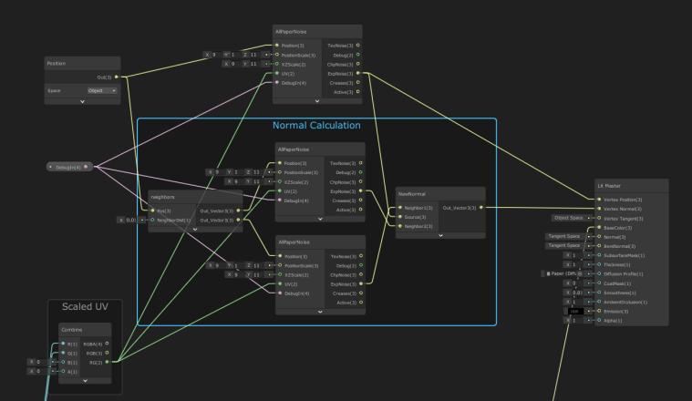 scaled noise shader graph