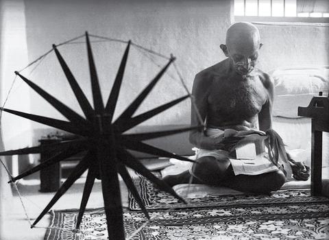 Gandhiji Spinning