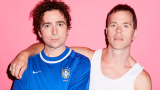 The Presets against pink background