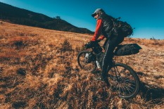 Bikepacking Lincoln National Forest, New Mexico.