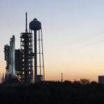 SpaceX CRS-10 is erected and ready for launch from Pad 39A.